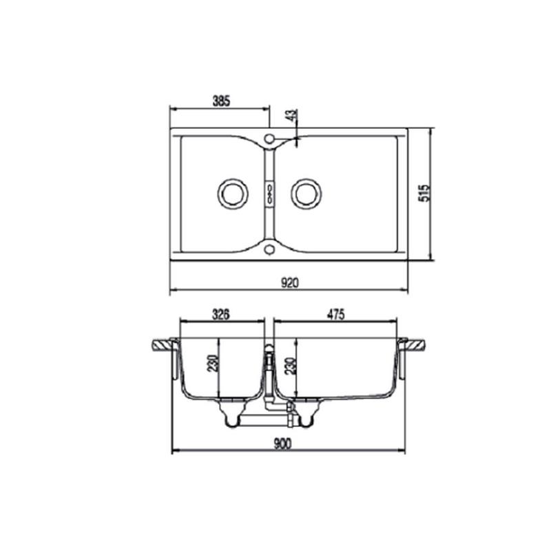 Νεροχύτης SCHOCK CAMPUS N-175 XL