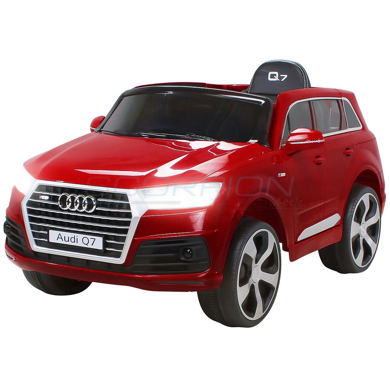 ScorpionWheels Ηλεκτροκίνητο παιδικό αυτοκίνητο Audi Q7  Licenced 12v με τηλεκοντρόλ Μπορντό 5247008