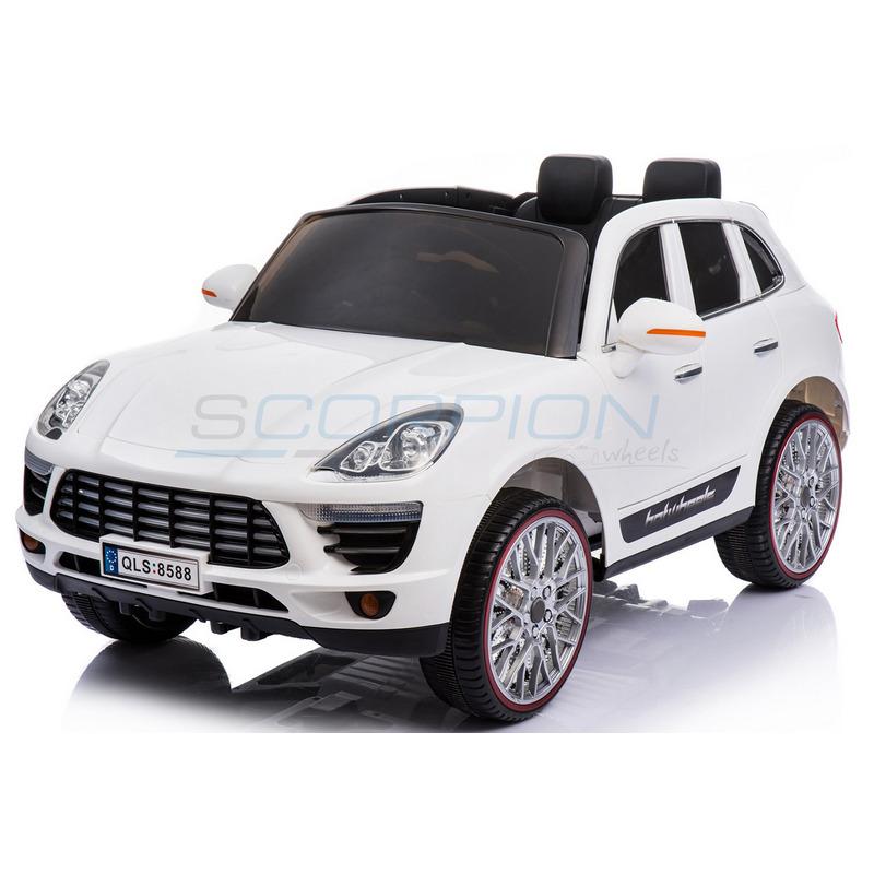 ScorpionWheels Ηλεκτροκίνητο παιδικό αυτοκίνητο τύπου Porsche Cayenne 12v με τηλεκοντρόλ λευκό 5247020