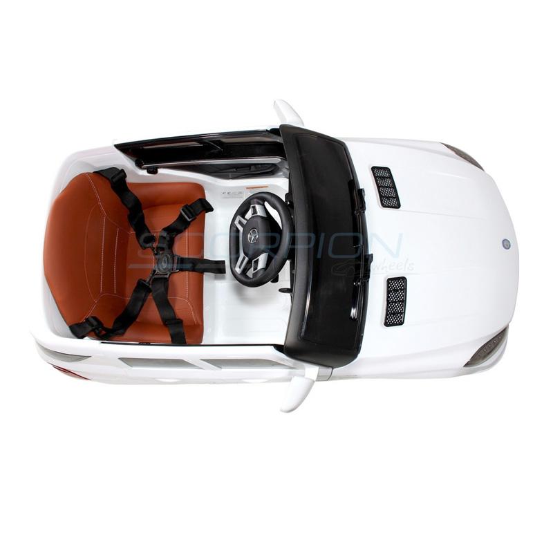 ScorpionWheels Ηλεκτροκίνητο παιδικό αυτοκίνητο Licenced Mercedes ML63 AMG 12v με τηλεκοντρόλ  Λευκό 5247063