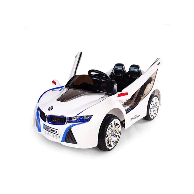 Ηλεκτροκίνητο παιδικό αυτοκίνητο τύπου BMW i8 Δερμάτινο κάθισμα 12v με τηλεκοντρόλ Λευκό